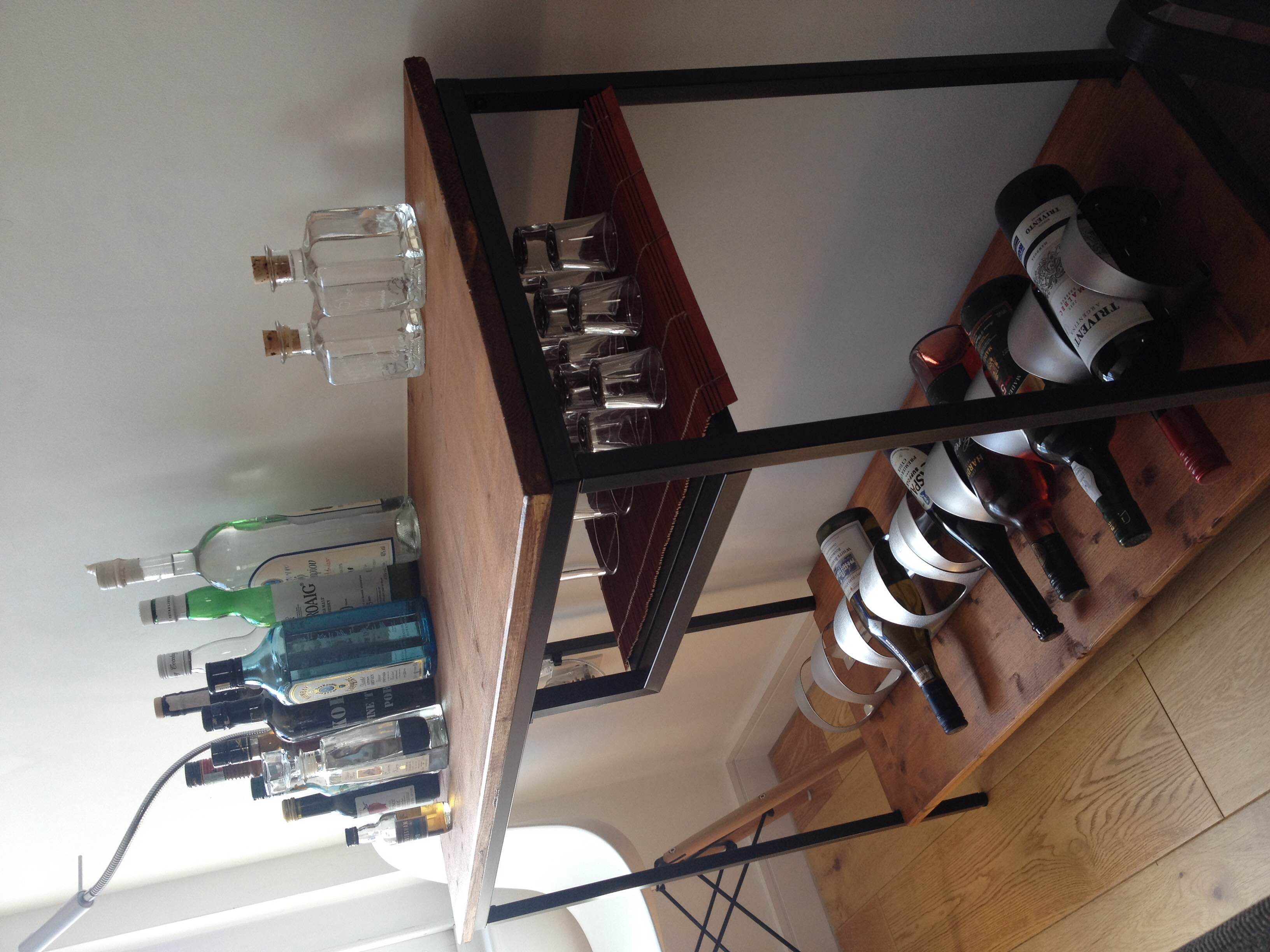 Bar cart from the right